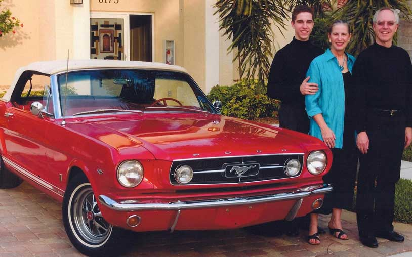 Satisfied client Randall with his family and their Ford Mustang | F1 Imports & Exotics Naples Florida Ferrari Repairs & Luxury, Highline, and Exotic Car Service and Repair Center